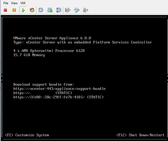 How to allow Shell and SCP access in vCenter 6 Appliance
